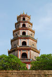 The tower at Thien Mu pagoda in Hue, Vietnam Royalty Free Stock Photography