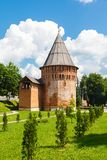 Tower Thunderous (Round) and wall of the Kremlin Stock Image