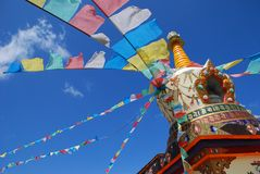 Tower of Tibetan prayer flags Stock Photography