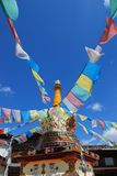 Tower of Tibetan prayer flags Stock Image