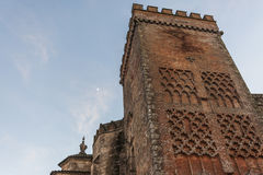 Tower to the stone castle. Aracena. Huelva. Spain Royalty Free Stock Photo