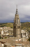 Tower of Toledo Cathedral, Spain Stock Photo