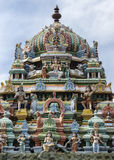Tower on top of Murugan Shrine at Thiruvannamalai temple. Tower on top of Murugan Shrine at Annamalaiyar temple in Thiruvannamalai royalty free stock photography