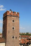 Tower of Torment in Piazza delle Erbe in Vicenza in Italy Royalty Free Stock Image