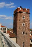 Tower of Torment in Piazza delle Erbe in Vicenza in Italy Stock Image