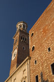Tower Torre dei Lamberti in Verona (Italy) Stock Photos