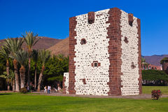 Tower Torre del conde in San Sebastian - La Gomera Island - Cana Royalty Free Stock Photos