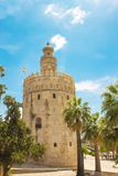 Tower Torre del oro in Seville, Andalusia, Spain stock photo