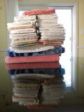 Tower of Towels. Stock Images