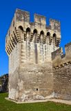 Tower of town fortifications (XIV c.) in Avignon, France Royalty Free Stock Photo