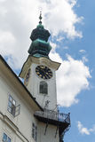 Tower of Town Hall in Banska Stiavnica, Slovakia Stock Image