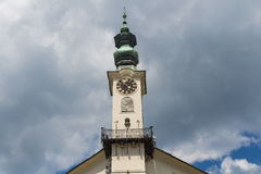 Tower of Town Hall in Banska Stiavnica, Slovakia Stock Photography