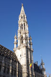 The tower of the town hall of Brussels Royalty Free Stock Images