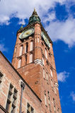 Tower of town hall in Gdansk, Poland Stock Photography