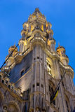 Tower of the Town Hall of Grand Place, Brussels Royalty Free Stock Image