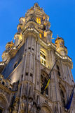 Tower of the Town Hall of Grand Place, Brussels Royalty Free Stock Photos