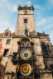 Tower of town hall in Prague, Czech Republic Stock Image