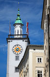 Tower of Town hall in Salzburg Stock Images