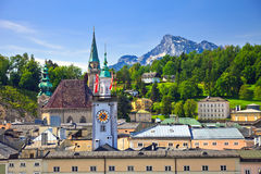 Tower of Town hall in Salzburg Stock Photography