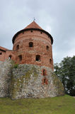Tower of Trakai Castle in Lithuania Stock Photo