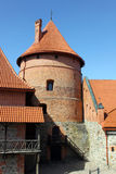Tower of Tralai castle. Outer yard. Situated not far from Vilnius, Trakai is an ancient capital of the Grand Duchy of Lithuania Stock Photos