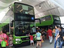 Singapore Tower Transit New Bus Exhibition Royalty Free Stock Image