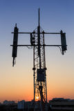 Tower transmition base station Royalty Free Stock Photos