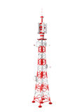 Tower. Transmits different signals on a white background Stock Photo