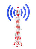 Tower. Transmits different signals on a white background Royalty Free Stock Photo