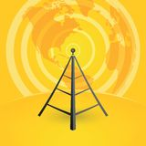 Tower transmits to the world Stock Image