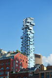 Tower tribeca against. The backdrop of new york royalty free stock image