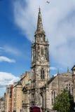 Tower of the The Tron Kirk-Edinburgh landmark Royalty Free Stock Image