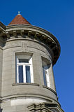 Tower and turret on old home Stock Photo