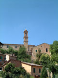 Tower in Tuscany. Bell tower Royalty Free Stock Photos