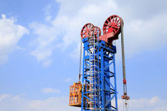 Tower type pumping unit Royalty Free Stock Images