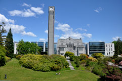 Tower in UBC. A clock tower in university of british columbia, canada Royalty Free Stock Images