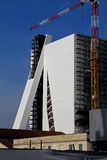 The`Tower` under construction of new exibition center of Prada Foundation Stock Image