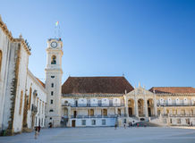 Tower of the University of Coimbra, Portugal Royalty Free Stock Image