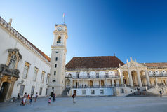 Tower of the University of Coimbra, Portugal Stock Photo