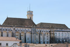 Tower of the University of Coimbra, Portugal Stock Images