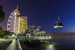 Tower Vasco da Gama by Tagus River in Lisbon Stock Image