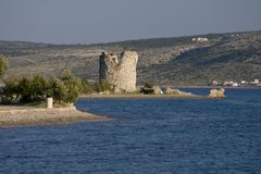 Tower Vecka in Starigrad Paklenica Stock Photography