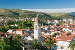 Tower of Venetian church from Trogir, Croatia Stock Photography