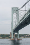 Tower on Verrazano Bridge. View of the Verrazano Bridge in New York Harbor stock photography