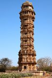 Tower of victory inside the Chittorgarh fort Royalty Free Stock Photography