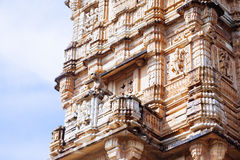 Tower of Victory Vijay Stambha in Chittor fort. Chittorgarh Royalty Free Stock Photography