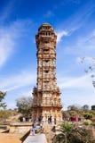 Tower of Victory Vijay Stambha in Chittor fort. Chittorgarh Stock Photo