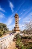 Tower of Victory Vijay Stambha in Chittor fort. Chittorgarh Stock Photos