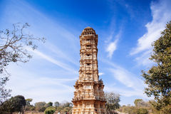 Tower of Victory Vijay Stambha in Chittor fort. Chittorgarh Royalty Free Stock Photos