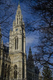 The tower from Vienna's Town Hall (Rathaus) Royalty Free Stock Photography
